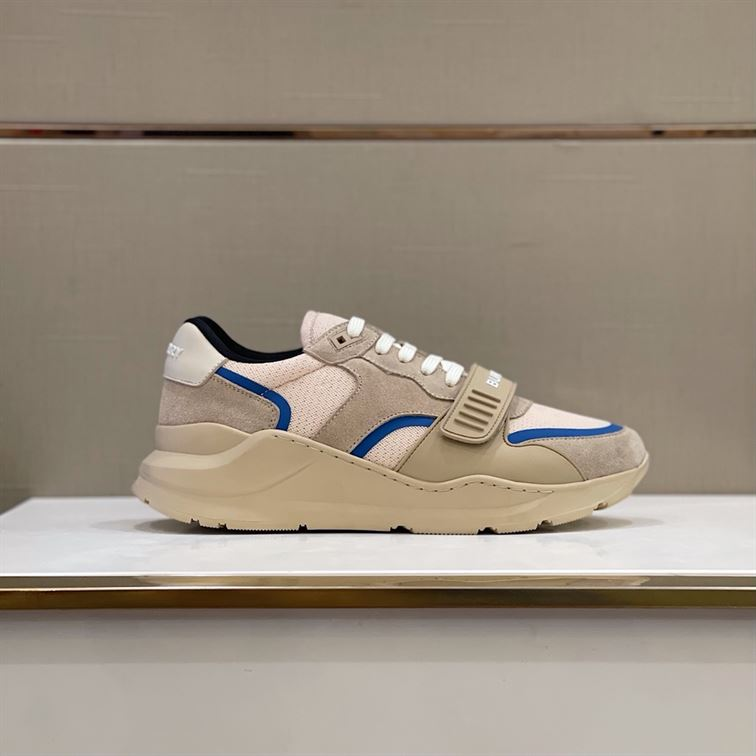 BURBERRY LOGO-STRAP LOW-TOP SNEAKERS - BBR01