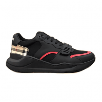 BURBERRY REGIS CHECK LACE-UP SNEAKER - BBR03