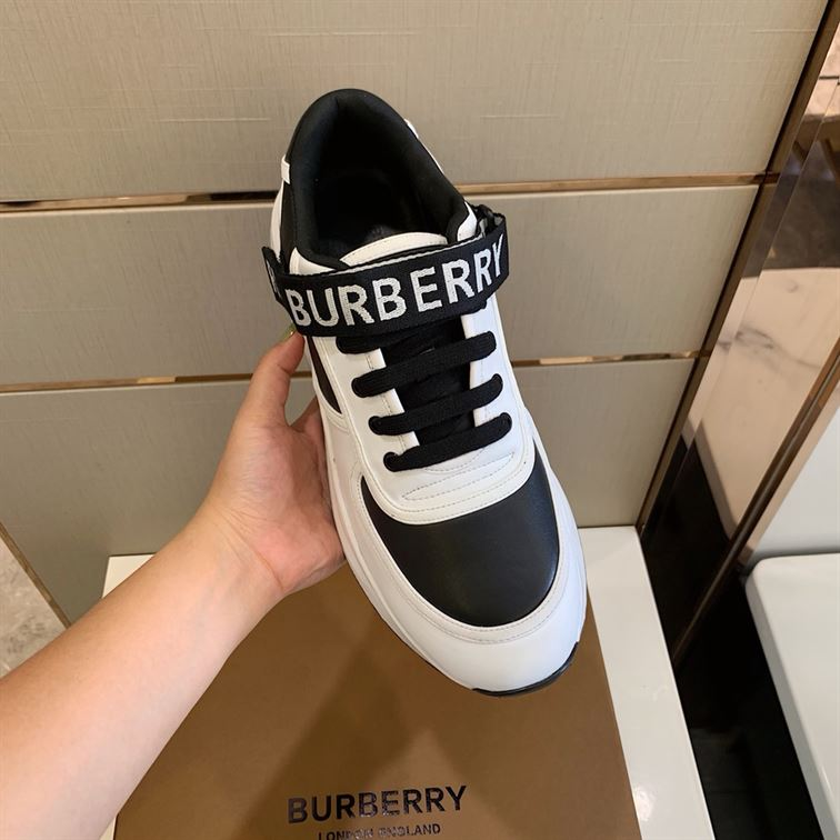 BURBERRY LOGO STRAP SNEAKERS - BBR08