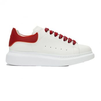 Alexander Mcqueen Oversized White/Red Red Shoelace Sneaker - Am035