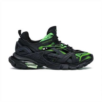 Balenciaga Track 2 Sneakers In Black And Green - Bb065