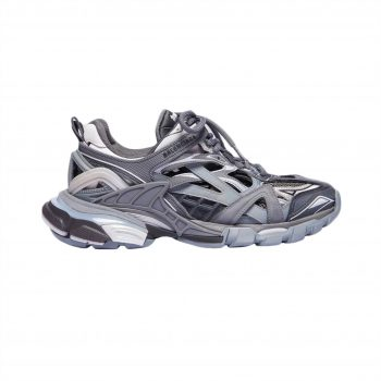 Balenciaga Track 2 Sneakers In Black And Grey - Bb060