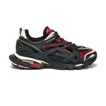 Balenciaga Track 2 Sneakers In Black And Red - Bb044