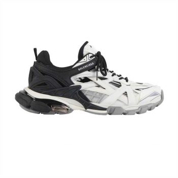 Balenciaga Track 2 Sneakers In Black And White - Bb094