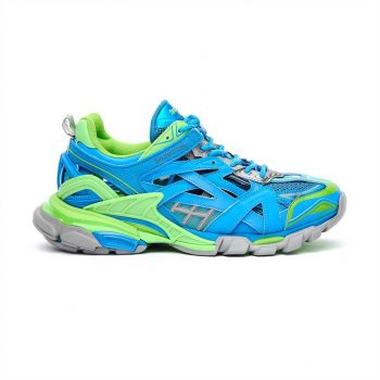 Balenciaga Track 2 Sneakers In Blue And Green - Bb083