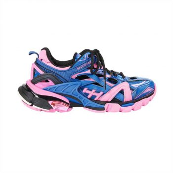 Balenciaga Track 2 Sneakers In Blue And Pink - Bb084