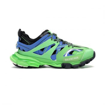 Balenciaga Track 3 Sneakers In Green And Blue 3.0 - Bb027