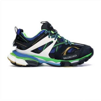 Balenciaga Track 3.0 Sneakers In Black And Green - Bb067