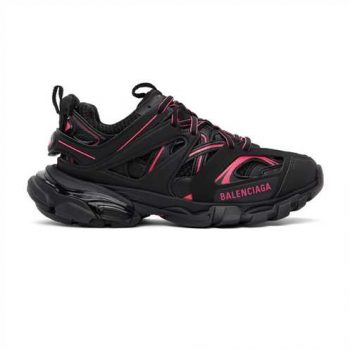 Balenciaga Track 3.0 Sneakers In Black And Pink - Bb078