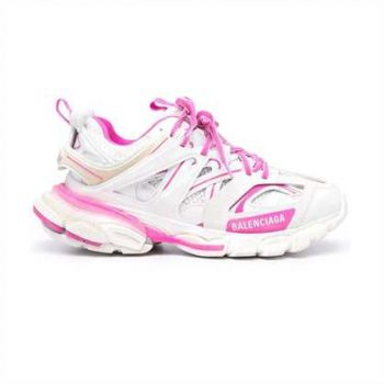 Balenciaga Track 3.0 Sneakers In White And Pink - Bb073