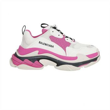 Balenciaga Triple S Sneakers In White And Pink - Bb052
