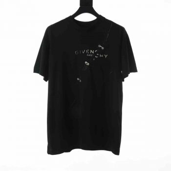 Givenchy Oversized T-Shirt With Trompr-L'oeil Effect - GIVS007