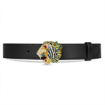 Gucci Leather Belt With Tiger Head - BG19