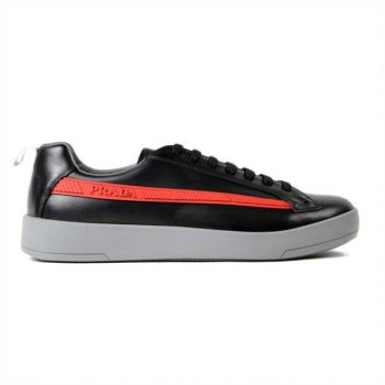 Prada Linea Rossa - Graphic Brushed Leather Sneaker - Prd010