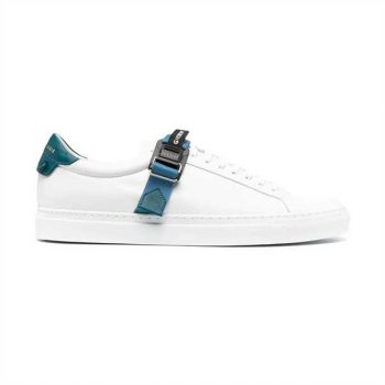 Givenchy Logo Strap Low Top White/ Blue Sneakers - G02V