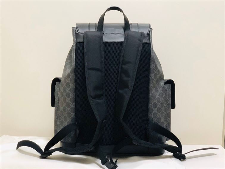 """"""" Gucci Canvas GG Backpack in Black for Men"""""""