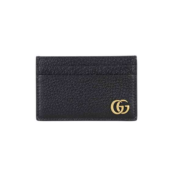Gucci GG Marmont Card Holder In Black - WGS006